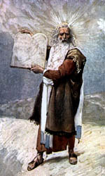 Moses and the Ten Commandments - J. James Tissot